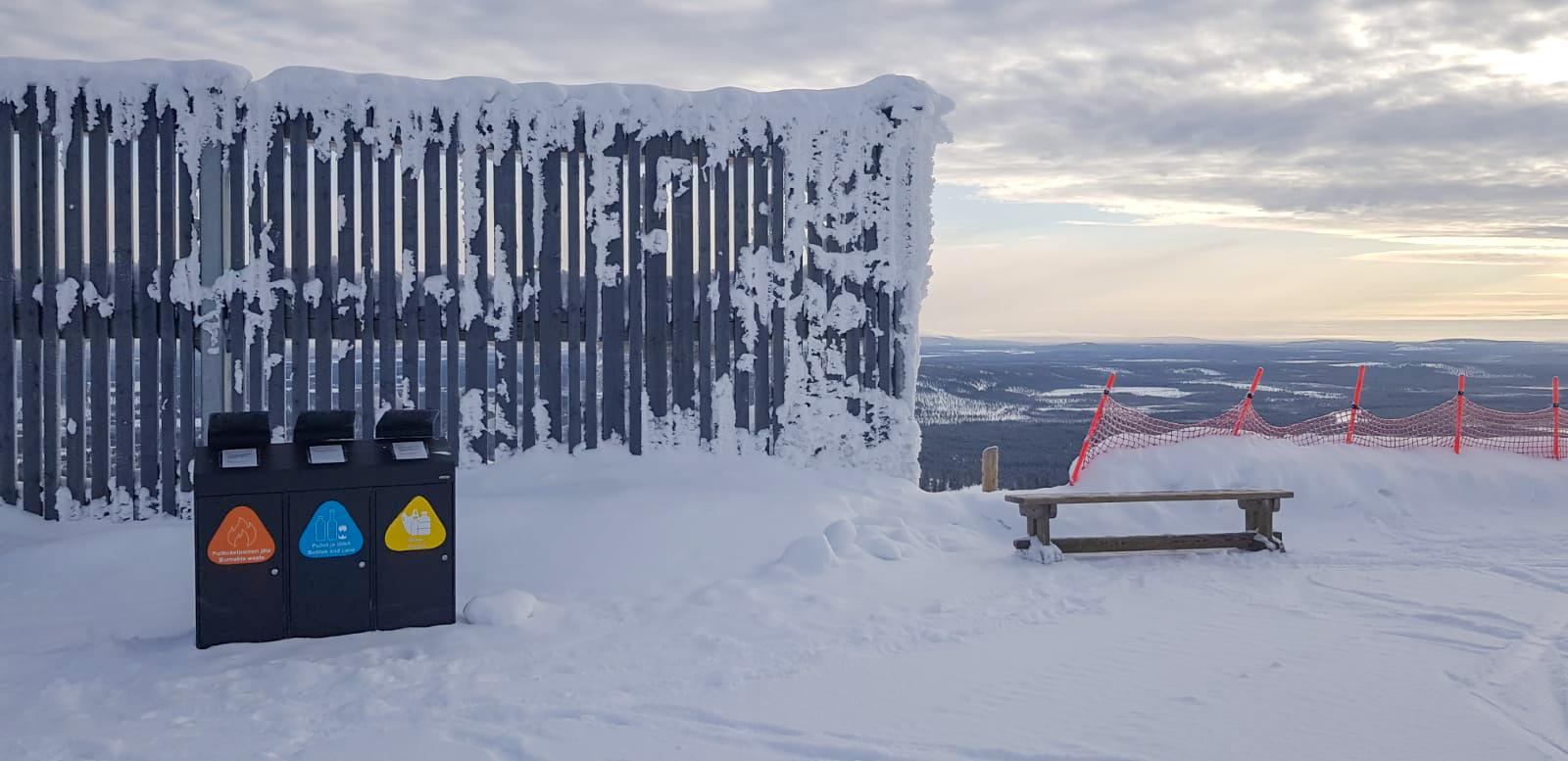 Levi Ski Resort jätteiden lajittelu